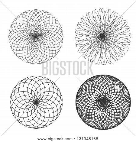Flower Sacred Geometry Vector Illustration Eps 10