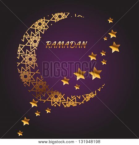ramadan kareem muslim islamic religion arabic greeting beautifu illustration vector eps 10