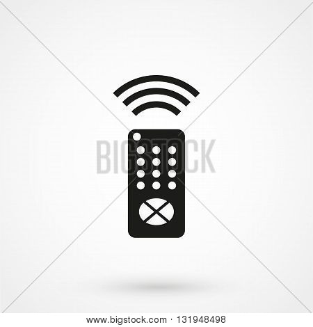 Remote Controller Icon Black Vector On White Background