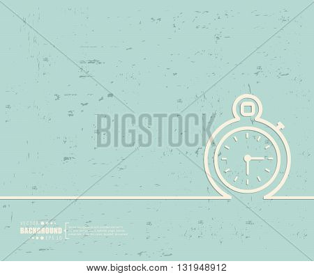 Creative vector stopwatch. Art illustration template background. For presentation, layout, brochure, logo, page, print, banner, poster, cover, booklet, business infographic, wallpaper, sign, flyer.