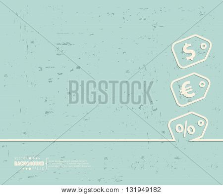Creative vector tag discounted. Art illustration template background. For presentation, layout, brochure, page, print, banner, poster, cover, booklet, business infographic, wallpaper, sign, flyer.