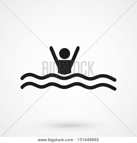 Swim Icon Black Vector On White Background