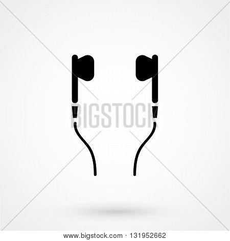Headphones Icon Black Vector On White Background