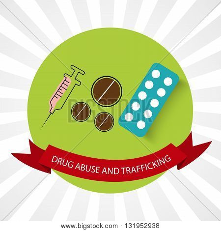 illustration of international day against drug abuse and Trafficking.