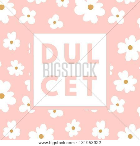 Creative girlie printable journaling card. Dulcet sweetie girl. Girlie print. Romantic cute poster. Minimalism design for banner, flyer, wallpaper