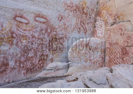 Aboriginal rock art at Carnarvon Gorge Queensland Australia