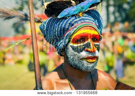 Man With Cap In Papua New Guinea