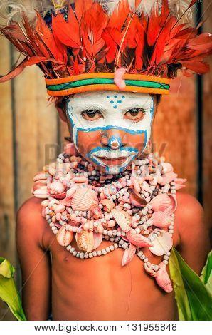 Cute Boy In Papua New Guinea