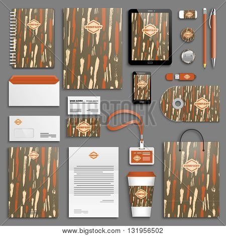 Trendy colorful Corporate identity template set. Business stationery mock-up with logo. Branding design. Colorful background.