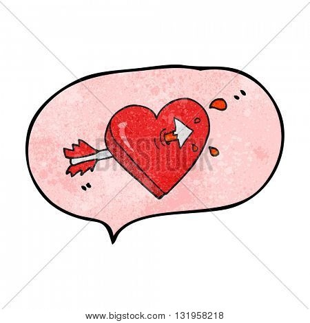 freehand speech bubble textured cartoon arrow through heart freehand speech bubble textured cartoon