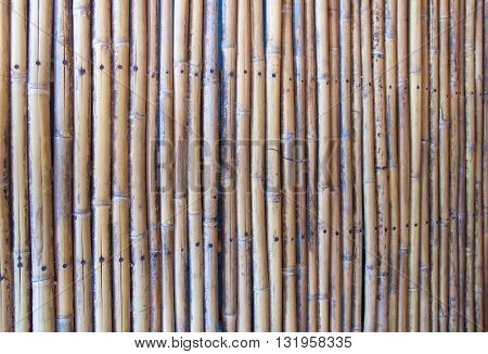 The old bamboo partition texture and background