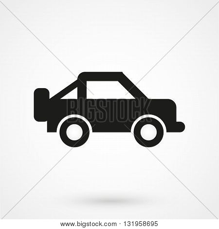 Jeep Icon Black Vector On White Background
