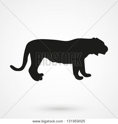 Tiger Icon Black Vector On White Background