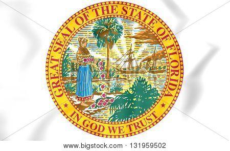 State Seal Of Florida, Usa.