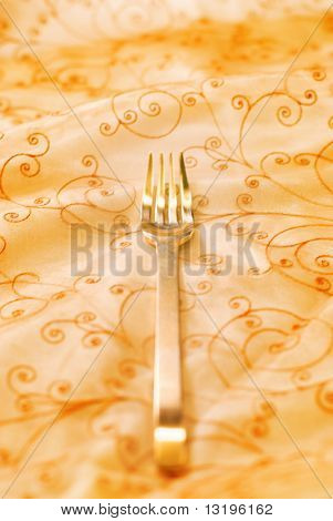 Royal luxury golden fork (shallow DoF)