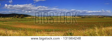 Toscana nature panorama landscape by day, Italy