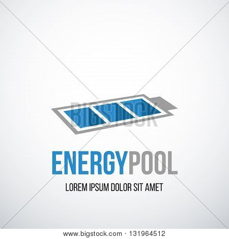 Battery logo design layout. Energy concept. Creative symbol design with battery shape.