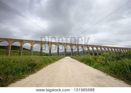 Acueducto de Noain near Pamplona city Navarra Spain