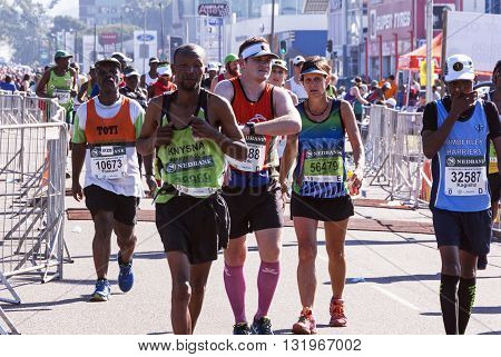Spectators And Runners At Comrades Marathon In Durban 17