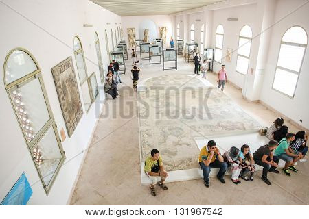 Tourists In National Museum Carthage