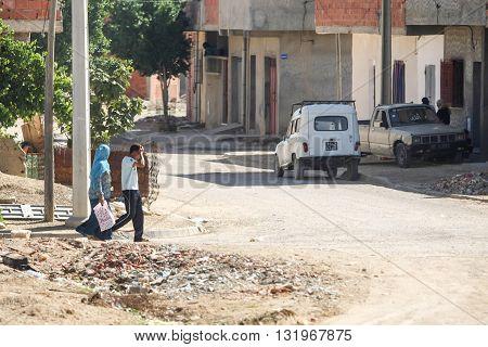 Residential Street In Kairouan