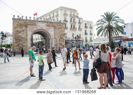 People Sightseeing In Tunis