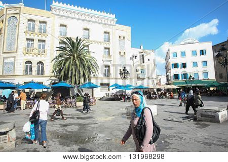 People Walking In Tunis