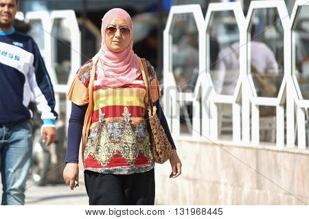Muslim Woman In Tunis