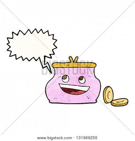 freehand speech bubble textured cartoon purse