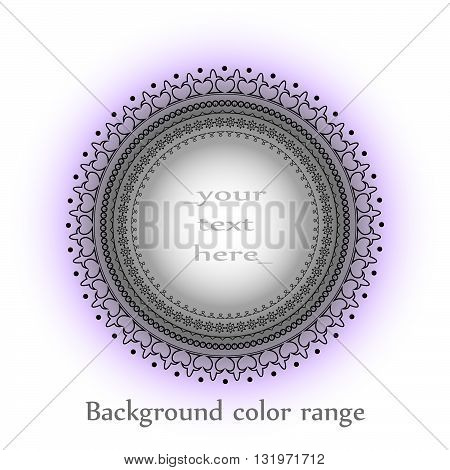 Circular pattern mandala. Simple mandala for background, decoration element. Range of colors for the mandala. Isolated vector illustration.