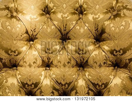 Texture Vintage mustard color beautiful material, texture. Closeup, button material