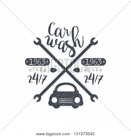 Carwash Black Vintage Stamp Classic Cool Vector Design With Text Elements On White Background