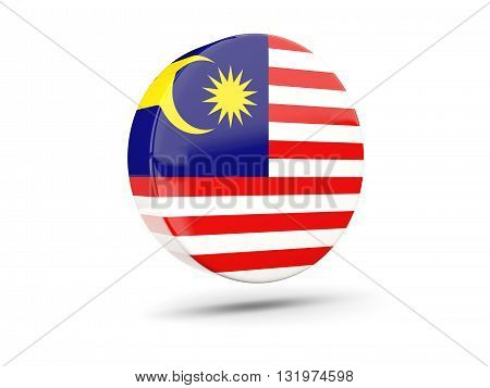 Round Icon With Flag Of Malaysia