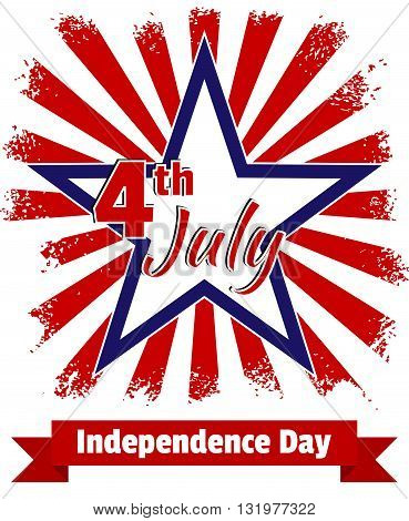Card Independence Day. Background In Grunge Style