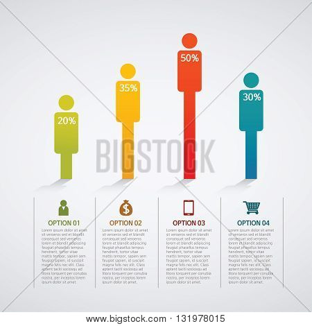Vector Illustration:info graphics - colorful graph, people