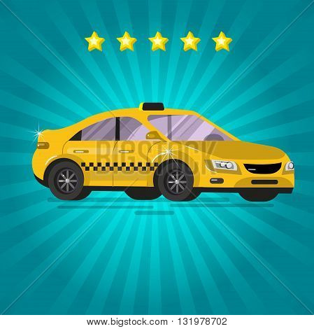Vector detailed taxi service, taxi creative concept, taxi design, taxi application. Vector taxi
