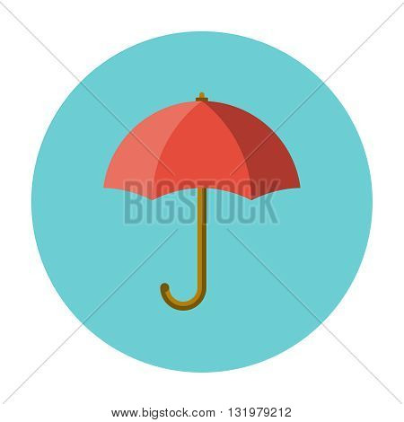 Umbrella flat icon and packing protection symbol