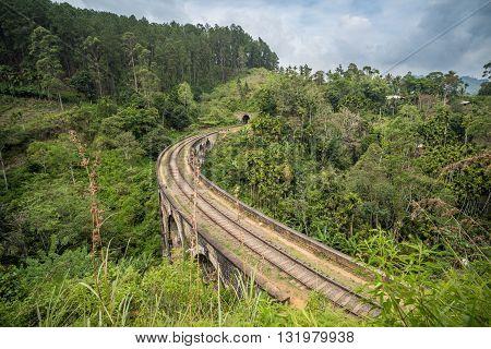 Nine arches bridge Ella in Sri Lanka
