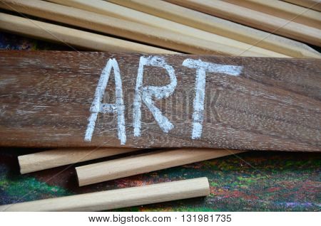 art word on a abstract colorful background