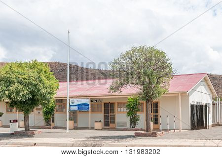 GARIEPDAM SOUTH AFRICA - MARCH 8 2016: The municipal offices in Gariepdam town at the Gariep Dam on the border between the Free State and Northern Cape provinces.