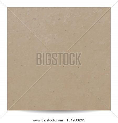 Brown kraft paper cardboard texture. vector background