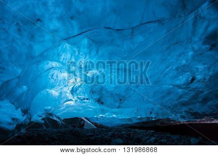 An amazing glacial ice cave in Iceland