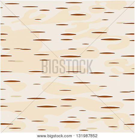 Brown birch bark - modern vector background.