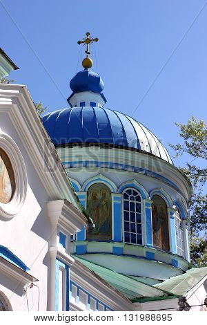 The dome of the small Church in the Urals