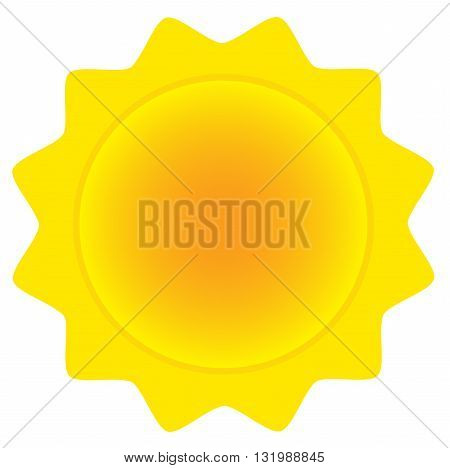 Abstract Sun. Illustration Isolated On White Background
