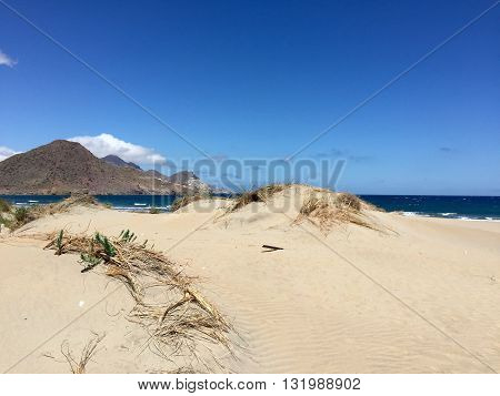 BEACH IN THE NATIONAL PARK OF CABO DE GATA-NIJAR , ALMERIA PROVINCE, SPAIN