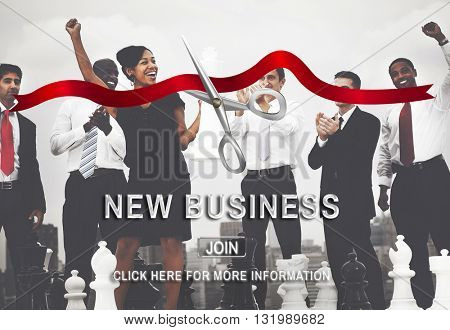 Startup Success Business Celebration Event Concept