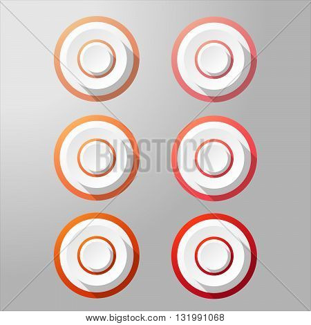 Loudspeaker buttons with different shades. Vector target buttons. Target aim symbol. Website buttons.