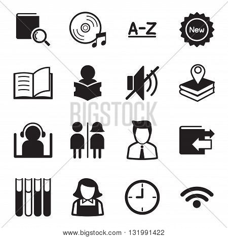 Library icons Illustration symbol Vector graphic design