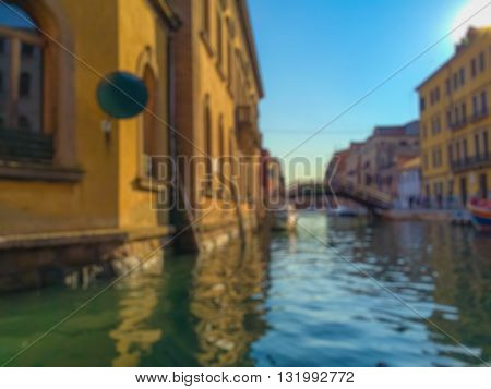 Abstract Blurry Background : Tourist in Venice